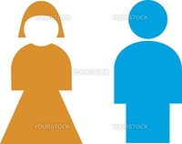 Vector Illustration: Restroom sign, male, female
