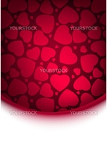 Abstract red heart background. EPS 8 vector file included