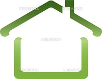 The vector image of the house in  colour shades