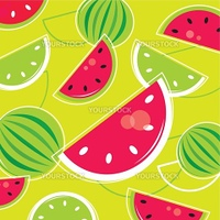 Pink and green Watermelon background. Vector