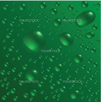 Water drops are on the green surface. Vector seamless background image