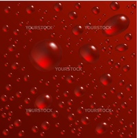 Water drops are on the red surface. Vector seamless background image