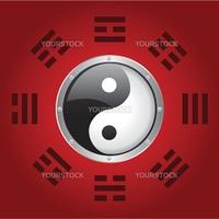 vector illustration of a yin yang symbol