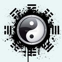 vector illustration of the yin yang symbol