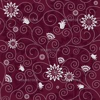 Purple effortless floral pattern with white flowers (vector)
