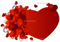 valentine greeting card with heart shaped vector illustration