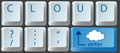 タイトル:Enter the cloud with a cloud computing key on computer keyboard