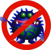 Vector illustration of Anti Virus