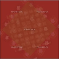 Abstract maroon background with squares and flowers
