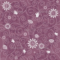 Gentle violet seamless floral pattern with white flowers (vector)