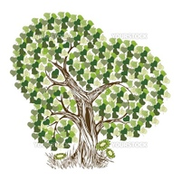 Colorful tree vector background for poster