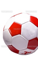 red and white Football cutout