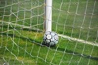Italian Soccer Ball in the net in Venice