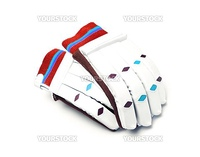 Gloves of the goalkeeper isolated on a white background