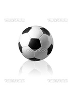 A standard soccer ball. All isolated on white background.