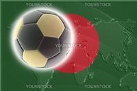 Flag of Bangladesh, national country symbol illustration sports soccer football