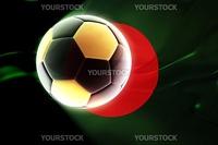 Flag of Bangladesh, national country symbol illustration wavy fabric sports soccer football