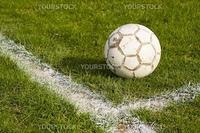 a football on the football field