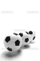 A soccor ball isolated against a white background