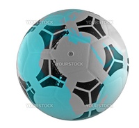 Closeup of world in form of a ball for football (soccer)