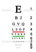 Eye test chart board