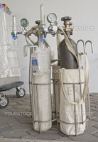 Medical Oxygen Concentrator is ready to use front of the emergency room at the hospital, Nakhon Si Thammarat, Thailand