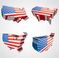 Four USA 3d views