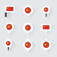 china flag and pins for infographic, and map design