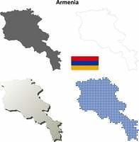 Armenia outline map set