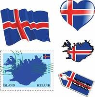 national colours of Iceland