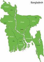 Green Bangladesh map