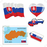 national colours of Slovakia