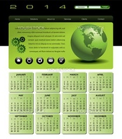 Web Template with 2014 Calendar