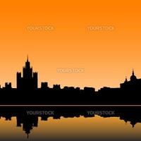 Moscow city silhouette skyline vector illustration