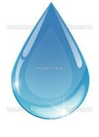 Blue drop towards