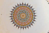 Interior view of a dome from Selimiye Mosque courtyard, Edirne,