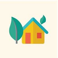 Eco-friendly House Flat Icon