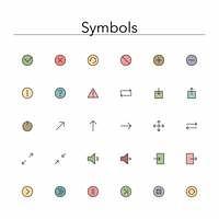 Symbols Colored Line Icons
