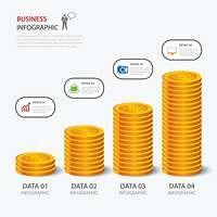 vector money business plan infographic flat design
