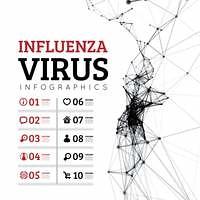 Influenza virus vector illustration