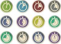 Timer icons collection isolated on white