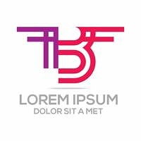 logo lettermark b icon vector