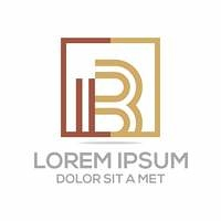 Abstract logo lettermark b icon vector