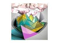 Abstract 3D low polygons
