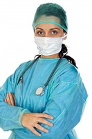 Woman doctor with mask