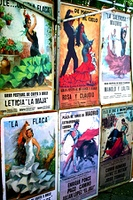 posters of bullfighting and flamenco
