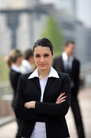 woman in business suit from the front