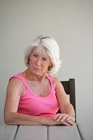 Portrait of a senior woman skeptical