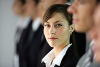 portrait of woman in business suit