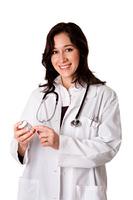 Doctor pharmacist explaining medication